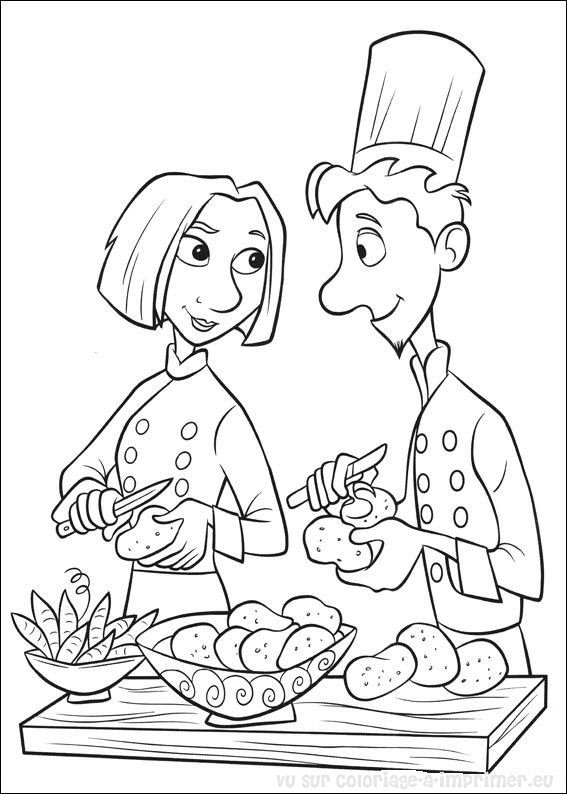 kids coloring pages cooking - photo#40