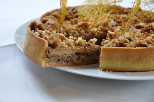 La délicieuse tarte au nillon et pommes caramélisées
