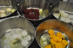 Faire suer les légumes séparément