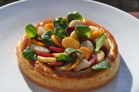La tarte aux légumes terminée