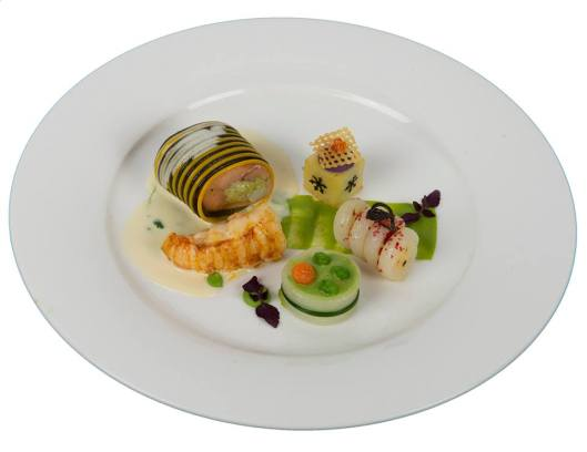 Le plat de poisson du Vainqueur ©académie Suisse du Bocuse d'Or