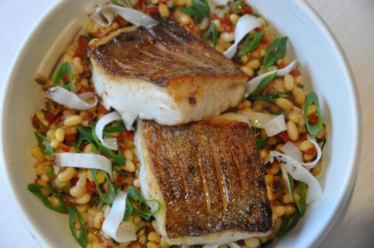 un plat de poisson plutôt appétissant...