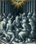 Émail sur cuivre de Pierre Reymond (1522) La Pentecôte, musée d'art de Saint-Louis