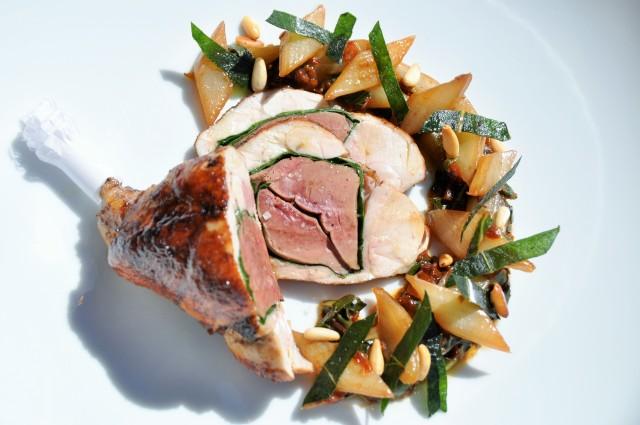 La cuisse de lapin farcie aux côtes de bettes et pignons de pins (1)