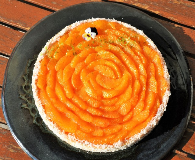 La Tarte à l'orange sanguine