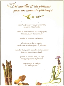 Menu d'époque Alain Chapel