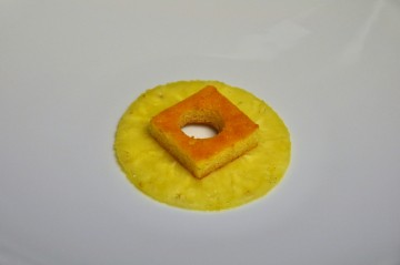 Surmonter d'un biscuit citron vert.